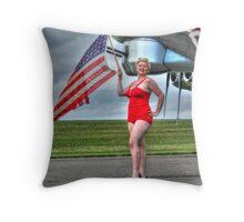 Yankee Girl 3 Throw Pillow