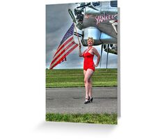 Yankee Girl 3 Greeting Card