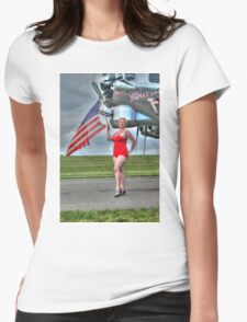 Yankee Girl 3 Womens Fitted T-Shirt