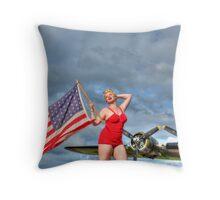 Yankee Girl 4 Throw Pillow