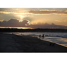 Days end at the beach Photographic Print
