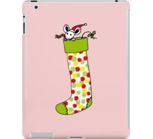 Adorable Christmas gift sock with Santa mouse iPad Case/Skin