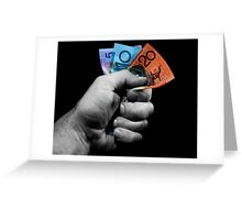 A Fistful of Dollars! Greeting Card