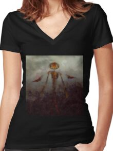 It Came From Hell by Sarah Kirk Women's Fitted V-Neck T-Shirt