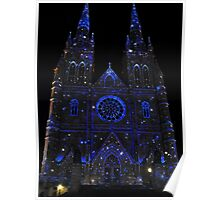 St. Mary's Cathedral Vividly Lit Up with Stars Poster