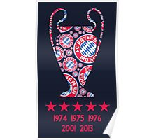 FC Bayern Munich - Champion League Winners Poster