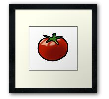 Fresh red juicy tomato Framed Print