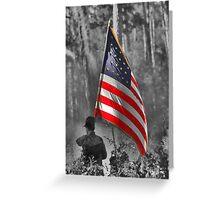 DADE'S BATTLE RE-ENACTMENT FLAG BEARER Greeting Card