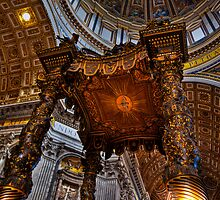 Intricate art in St Peters Basilica by Charlie Busuttil