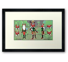 Natika Character Sheet Framed Print