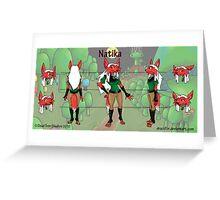 Natika Character Sheet Greeting Card