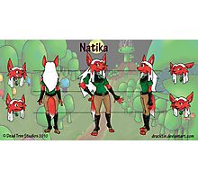Natika Character Sheet Photographic Print