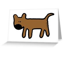 Big nosed brown dog cartoon Greeting Card