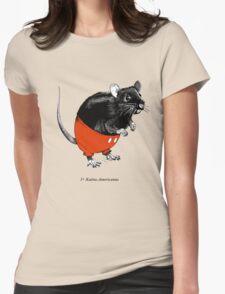 Rattus Americanus Womens Fitted T-Shirt