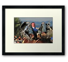 Cowboy - Going for the 8 second mark Framed Print