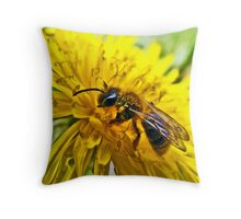 The Wasp and the Dandelion Throw Pillow