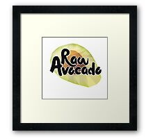 Raw Avocado Framed Print