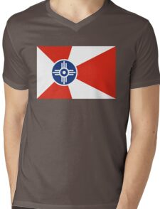 Wichita flag Mens V-Neck T-Shirt