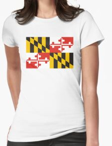 maryland state flag Womens Fitted T-Shirt