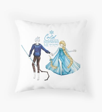 Cold never bothered me anyway (Jelsa) Throw Pillow