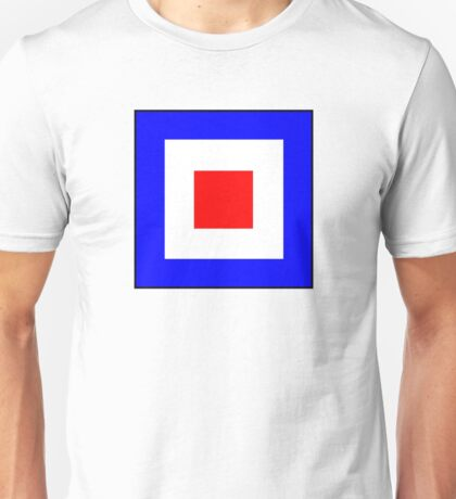 International maritime signal flags sea alphabet collection letter w Unisex T-Shirt