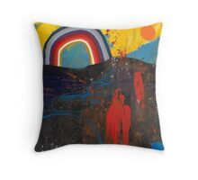 Number 2 (Rainbow Series) Throw Pillow