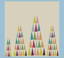Geometric Colorful Triangle Kids Tee
