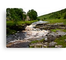 River Cottage  (River Wharfe) Canvas Print