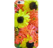 Colorful autumn flowers iPhone Case/Skin