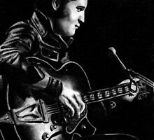 Elvis Presley Pencil Portrait Art by Layce Art
