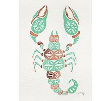 Scorpion – Mint & Rose Gold Photographic Print