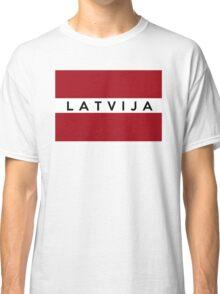flag of latvia Classic T-Shirt