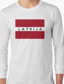 flag of latvia Long Sleeve T-Shirt
