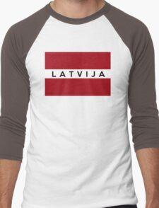 flag of latvia Men's Baseball ¾ T-Shirt
