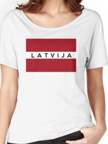 flag of latvia Women's Relaxed Fit T-Shirt