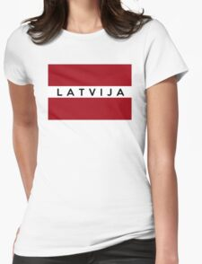 flag of latvia Womens Fitted T-Shirt