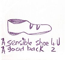 A sensible shoe for you. Photographic Print