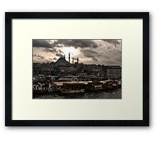 Cloudy Istanbul Framed Print