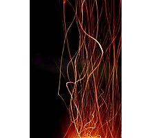 Ribbon Flames Photographic Print
