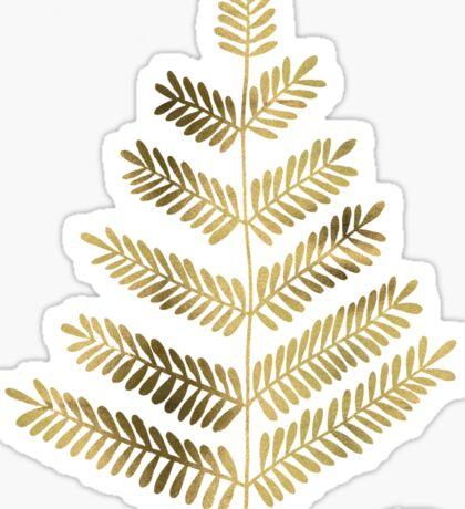 Gold Leaflets Sticker
