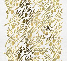Gold Olive Branches by Cat Coquillette