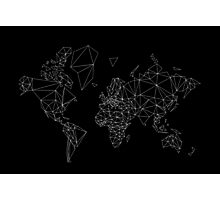world map low poly Photographic Print
