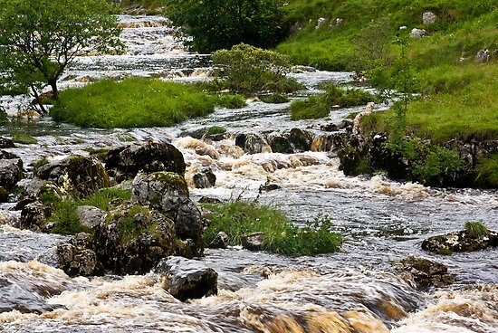 River Wharfe at Yockenthwaite by Trevor Kersley