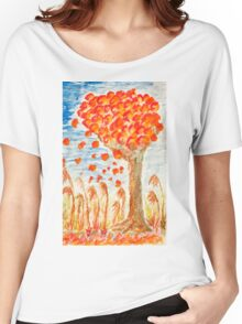 Autumn tree on the wind Women's Relaxed Fit T-Shirt