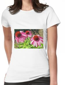 Pink and Purple Echinacea Cone Flower Macro Womens Fitted T-Shirt