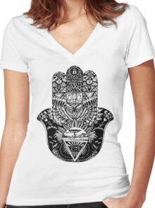 Protection From All Evil Segment  Women's Fitted V-Neck T-Shirt