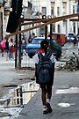 On the way to school, Havana, Cuba by David Carton
