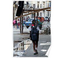 On the way to school, Havana, Cuba Poster