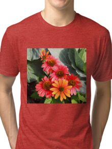 Cheyenne Spirit Echinacea Flowers in the Summer Garden Tri-blend T-Shirt