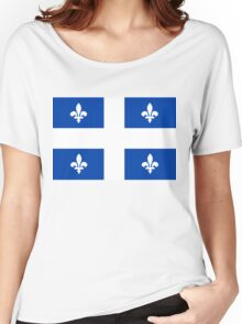 quebec flag Women's Relaxed Fit T-Shirt